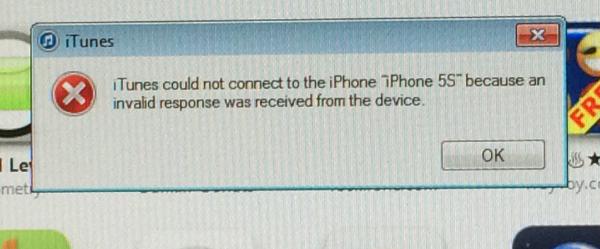 Iphone Itunes Invalid Response